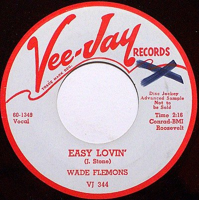 Flemons, Wade - Easy Lovin' / Woops Now - Vinyl 45 Record on Vee Jay - R&B Soul