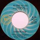 Fantastic Four - As Long As I Live / To Share Your Love - Vinyl 45 Record on Ric Tic - R&B Soul