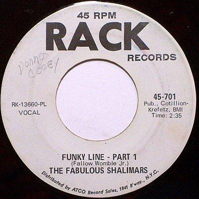 Fabulous Shalimars, The - Funky Line Part 1 / Part 2 - Vinyl 45 Record on Rack - R&B Soul Funk