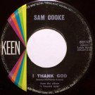Cooke, Sam - I Thank God . With You - Vinyl 45 Record on Keen - R&B Soul