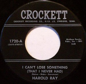Ray, Harold - I Can't Lose Something / Pieces That Fell Apart Again - Vinyl 45 Record - Pop