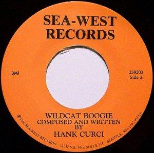 Curci, Hank - Wildcat Boogie / The Sea - Vinyl 45 Record + Hand Written Note - Rockabilly