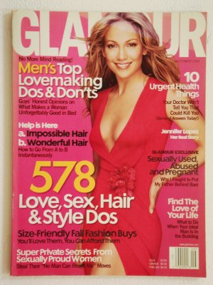 Glamour Magazine September 2000 Issue with Jennifer Lopez on the cover