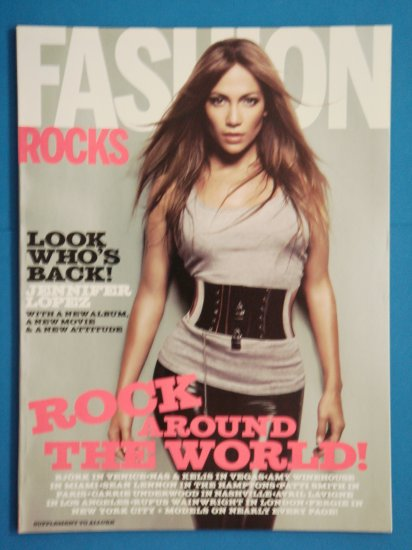 Fashion Allure Magazine August 2007 Issue Supplement with Jennifer Lopez on cover