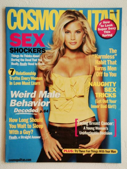 Cosmopolitan Magazine March 2007 Issue Vol. 242 No. 3 with Tori Praver on the cover
