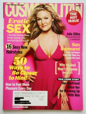Cosmopolitan Magazine August 2007 Issue Vol. 243 No. 2 with Julia Styles on the cover