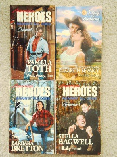 Retro Romance Book Lot 2 Harlequin four novels
