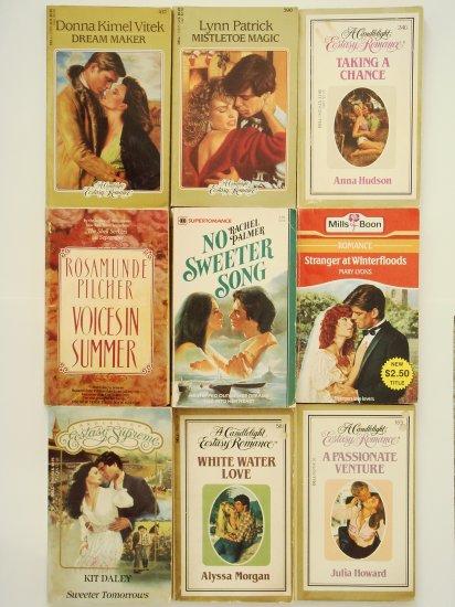 Retro Romance Book Lot 4 A Candlelight Ecstasy Romance four novels