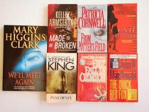 Mixed Mystery Book Lot 7 novels Clark Cornwell Armstrong MacDonald King
