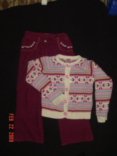 GYMBOREE~PARK CITY LUXE~OUTFIT~2 PIECE~PANT~SWEATER~S 6