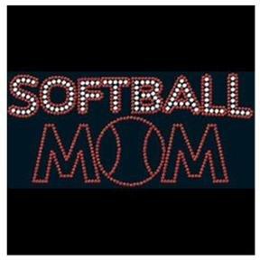 Softball Mom  Rhinstone