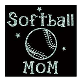 Sotball Mom Glitter