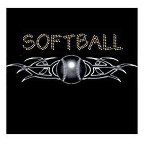 Tribal Softball Rhinestone and Glitter