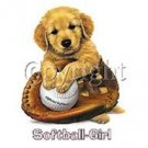 Softball Girl Puppy