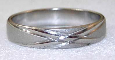 18kgp Band Ring #3 Free Shipping