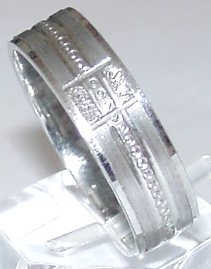 18kgp Band Ring # 4 Free Shipping