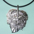 Mother or Pearl Leaf Shaped Pendant Free Shipping