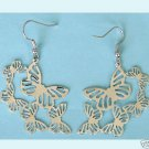 Stamping  Butterflies Earrings free shipping