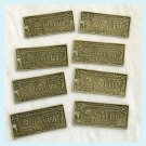 8 Pieces of Antique Brass 100 Dollar Bill Charms Free Shipping