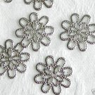 30 Pieces of Silver Stamping Flower Jewelry Findings Free Shipping