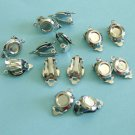 12 Pcs of WG Color Clip On Earrings With Round Base