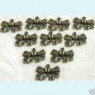 10 Pcs Antique Bronze Bow Chandelier Earring Findings