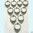 10 Pc of Antique Bronze Chandelier Earring Findings ew1 Free Shipping