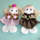 Lace Mini Dolls Appliques  Set of  2 Pieces Free Shipping