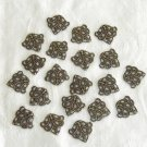 30Pieces of Antiqued Bronze Stamping FortuneTree Charms Free Shipping