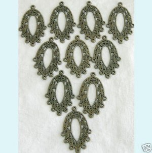 10 Pcs Antique Bronze Chandelier Earring Findings ew12 Free Shipping