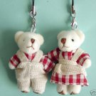 Mr and Mrs Bear  Stuffed Animal Cell Phone Charms Free Shipping
