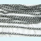 20 Ft of Gunmetal Curb Link Chains Free Shipping