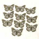 10 Pc of Antiqued Bronze Stamping Butterfly Findings