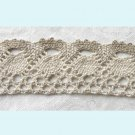 4 Yards of Ivory And Mocha Crochet Ribbon Free Shipping