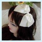 Large Double Ivory Bows Headband - Wedding Bridal