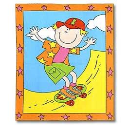 Skateboarder Panel