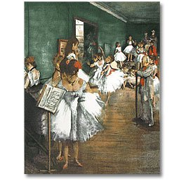 Degas Dance Class Panel