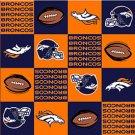 NFL Denver Broncos Orange Football 72x60