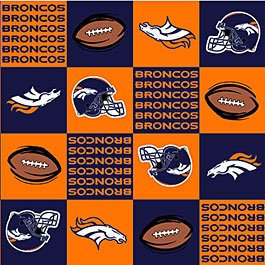 NFL Denver Broncos Orange Football 72x60
