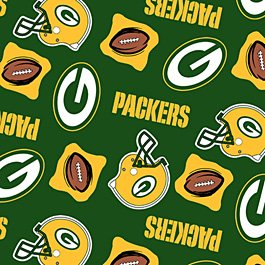 Green Bay Packers Green Football 36x60