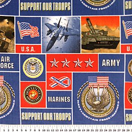 Support Our Troops Allover 36x60