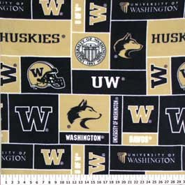University of Washington Huskies 72x60