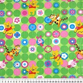 Winnie the Pooh Bright Dots Green 72x60