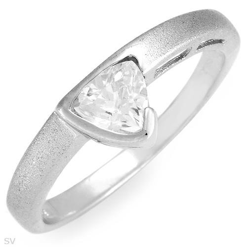 Cubic Zirconia ring set in Sterling Silver