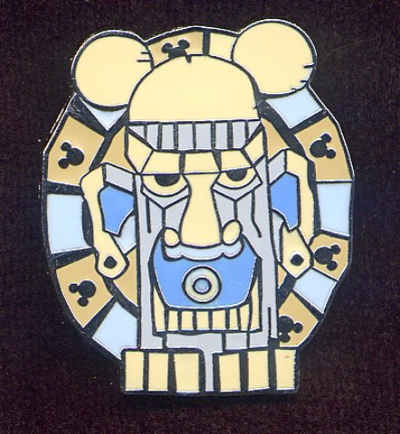 Disney Cast Lanyard Hidden Mickey 2008 Blue & Gray Tiki Pin