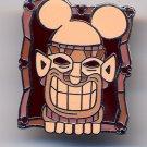 Disney Cast Lanyard Hidden Mickey 2008 Brown Tiki Pin