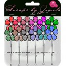 Patterened Flowers Stick Pins