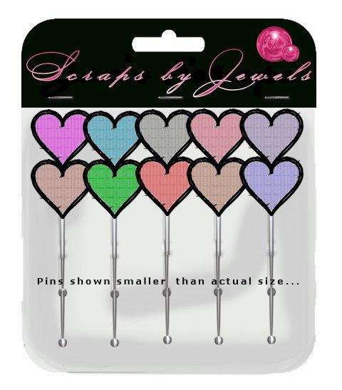 Jagged Heart Stick Pins