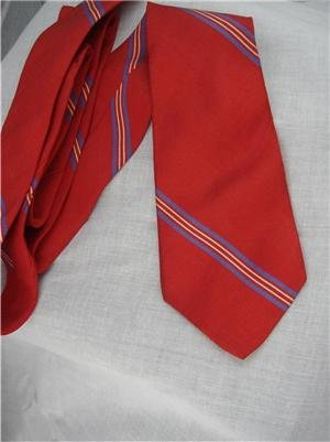 Vintage Calvin Klein Silk Red Striped Tie 80s