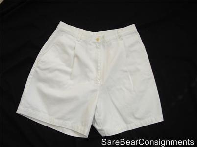 "Polo Ralph Lauren White Casual Shorts Sz 8 29"" Waist"